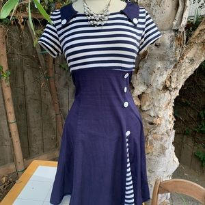 Sailor dress - BARGAIN! Missing button